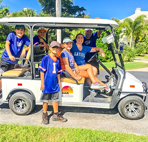 UF Family time in electric cart