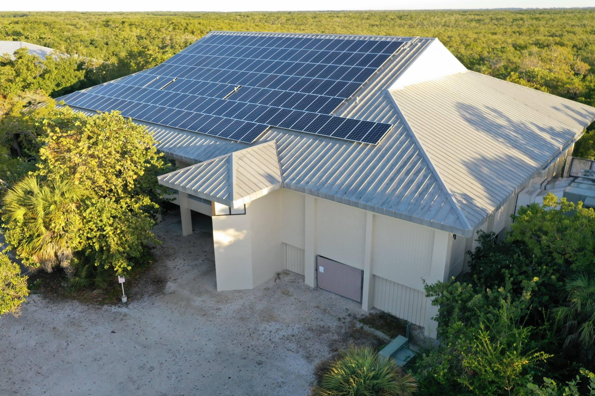 solar panels on ding darling visitor center